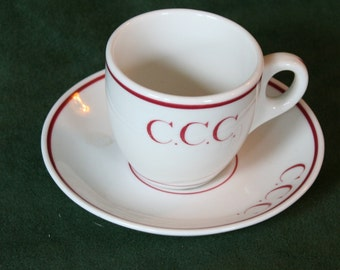 C.C.C. Demitasse Cup from Syracuse China, Jan. 1931, Onondaga Pottery Co.