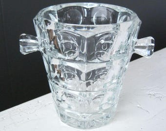 Vintage Sklo Union Ice Bucket, Designed by Rudolf Jurnikl for Rosice Glassworks, Czech Glass Design, Mid Century Modern Art Glass