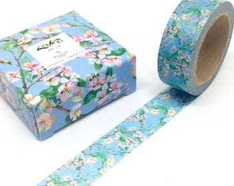 Blue Spring Flowers Washi Tape