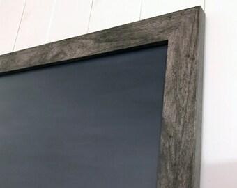 Chalkboard, Large Framed Dry Erase Board, 36 x 24 Framed Dry Erase Chalkboard, Optional Magnetic Upgrade