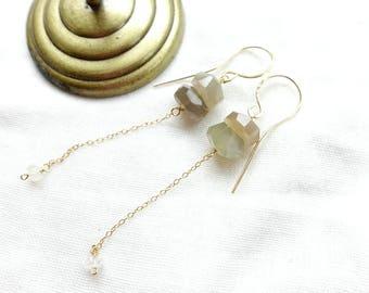 Moonstone Fringe Earrings