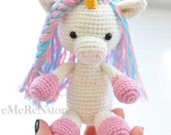 Cute Unicorn pattern,amigurumi pattern,unicorn pattern,crochet animals,PDFpattern,crochet toy pattern,amigurumi unicorn pattern,easy pattern