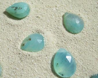 Peruvian Blue Opal Briolette, Gemstone, Teardrop Briolette, Blue Opal, Blue Gemstone, Briolette, Opal Gemstone, Peruvian, Ocean, Gemstone