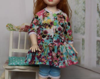 Outfit for BJD - Dress, pants and soks for B.I.D. Iplehouse, LittleFee or Momocolor (26 cm)