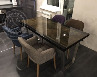 Dining epoxy table «Lux Life»
