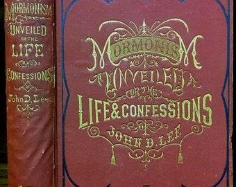 Mormonism Unveiled. John D. Lee. 1877, Mountain Meadows Massacre, Polygamy, Brigham Young, Latter-Day-Saints, LDS, Anti-Mormon vintage book