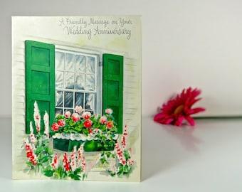Vintage wedding anniversary card, Hallmark
