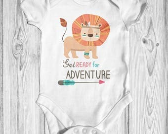 Get Ready For Adventure Baby Bodysuit | Animal Baby Clothes | Baby Shower Gift | Funny Baby Bodysuit | Take Home Outfit | Cute Baby Bodysuit