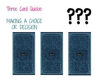 Making a choice or decision