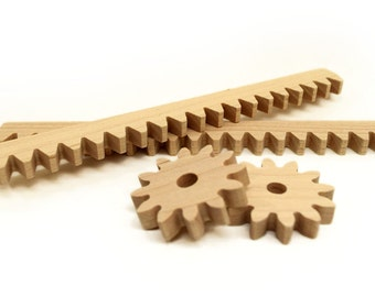 wooden rack and pinion