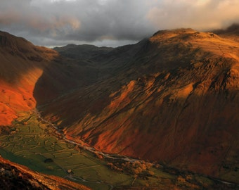 Wasdale Head from Yewbarrow  --  Landscape Photography by M J Turner