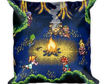 Chrono Trigger Campfire Pillow