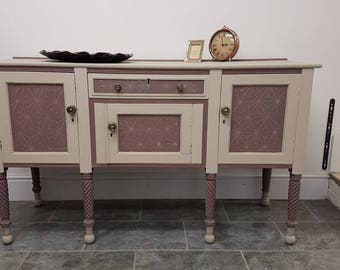 Stunning Hand Painted amd Embellished sideboard/buffet