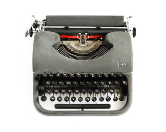 1953 Vintage French JAPY P68 Typewriter - Design by Artist Max Bill