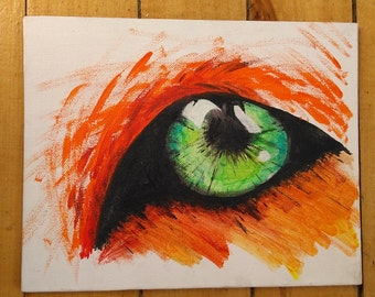 Fox Eye Acrylic Painting