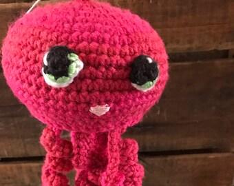 Kawaii jellyfish crochet, amigurumi animals, kawaii sealife, plush jellyfish decor, sea life nursery decor, jellyfish nursery decor, plushie