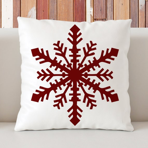 Scandinavian Christmas Pillow : Items similar to Scandinavian Pillow, Snowflake Pillow, Christmas decor, Winter Holiday Pillow ...