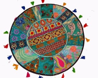Patchwork Gypsy Roundies,Handmade Round Floor Cushion Cover,pouf cover,Poufs,pouf,pouffe,Moroccan pouf,pouf ottoman,floor pouf,floor cushion