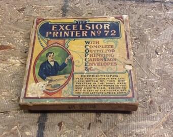 Vintage Excelsior Printer No 72