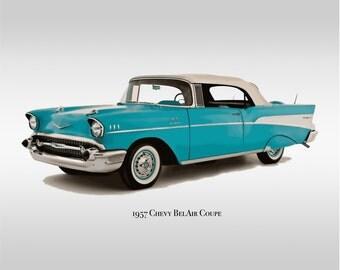 Classic Cars - 1957 Chevy Bel Air - Print