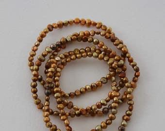 Silpada Gold Pearl Bracelet Set