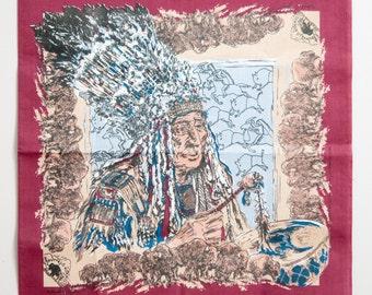 Vintage Native American Bandana #4