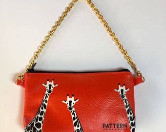 Pouch pocket with chain thetravellovebag love Africa