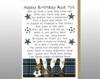Scottish Birthday Card Memories Male WWBI58