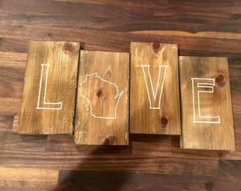 Love/ State/ Pallet sign