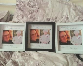 Memorial goodbye frame