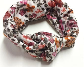 Summer Floral Turban Headwrap