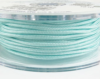 Griffin Braided nylon cord - turquoise - 10meters on spool