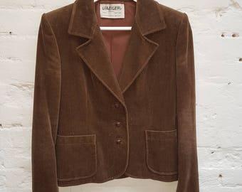 1980s Jaeger brown jacket. UK size 12