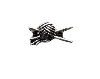 Knitting Charm for Floating Lockets, Bulk Wholesale Yarn and Knitting Needles Living Locket Charm, USA Seller, Fast Low Shipping