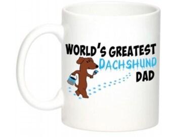 Dachshund World's Greatest Dad Mug