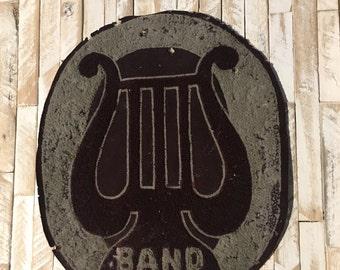 SALE--Vintage High School Band Varsity Letter/Patch