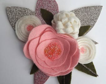 Felt Flower Corsage Brooch