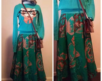 1950s Swing Vintage Green Skirt AU sz-6,8