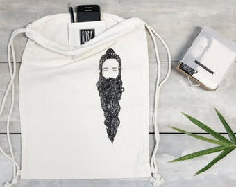 """Organic Cotton Backpack """"Rishi"""" with Gift Box and Inner Pocket"""