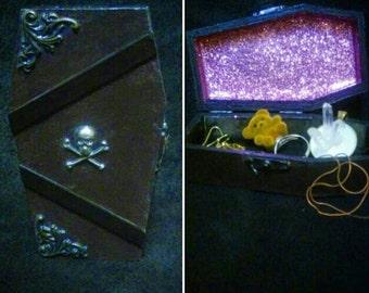 Mini Coffin Jewelry Box
