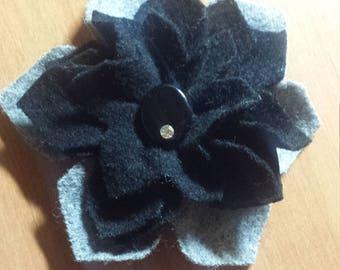 Handmade sown brooch womens accesory