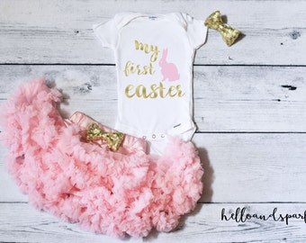 First Easter Outfit Girl, Easter Tutu Outfit, Easter Onesie® , My First Easter, Bunny Shirt, Easter Shirt, Easter Gift Girl, First Easter