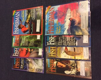 Lot of 8 Vintage North American Fisherman Magazines from the 90's