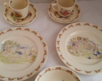 Child Dishes Bunnykins Royal Doulton  9 piece