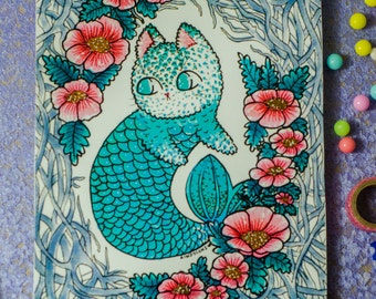 Mermaid kitty print