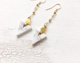 Turquoise arrow earrings | Arrow | Boho native | Bohemian jewelery | Gypsy earrings | Earrings gold filled | Arrowhead
