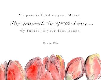 Past Present Future, Padre Pio, Print