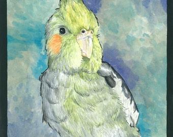 Odysseus, watercolor print, art print, wall decor, birds, nature, animals