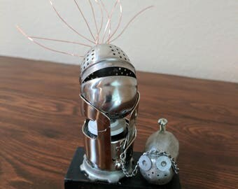 "Meet:""Icky and Bink"" Found Object Art Assemblage Robot"