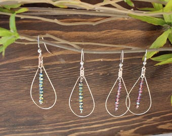 Silver Tear Drop earring